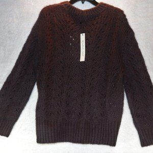 Mustard Seed Over Fit Open Knit Sweater